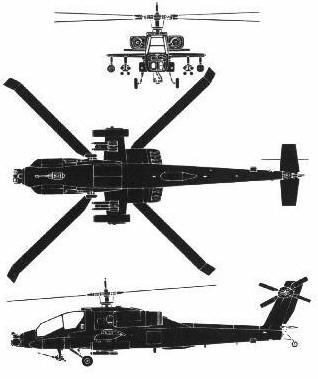 AH-64 views blueprints