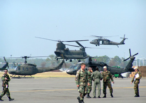 National Guard helos at the Mississippi National Guard Combat Readiness Training Center