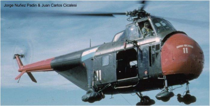 Elicottero S 55 : S h in comando de aviacion naval argentina