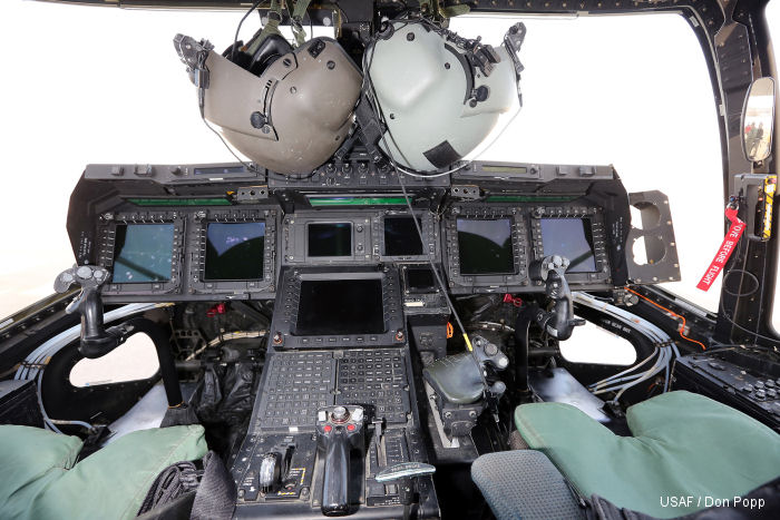 US Air Force v-22 Osprey cockpit