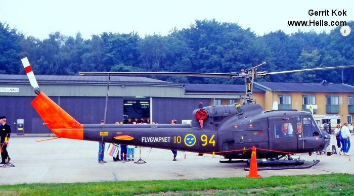 Tidlosa Kok I Sverige Ab : 03424 agusta ab204b CN 3006  Helicopter Database