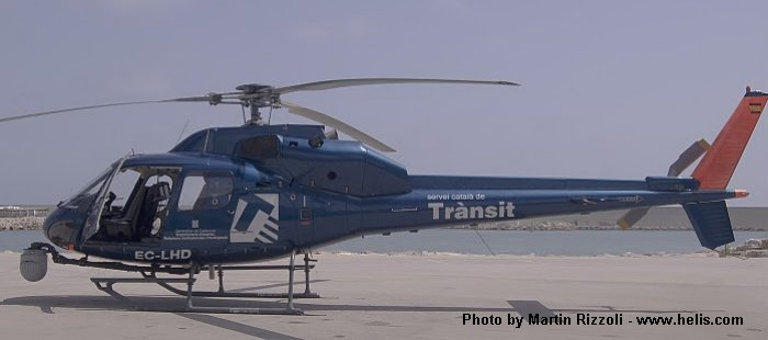 Helicopter Aerospatiale AS355F2 Ecureuil 2 Serial 5381 Register EC-LHD  F-HDLS used by