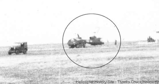 Camp Holloway first helicopters were the Piasecki CH-21 Shawnee