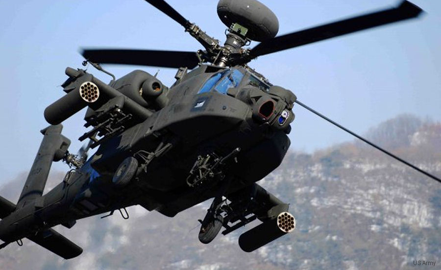 Boeing celebrating the delivery of its 1,000th AH-64 Apache attack  helicopter, an AH-64D Apache Longbow for the US Army