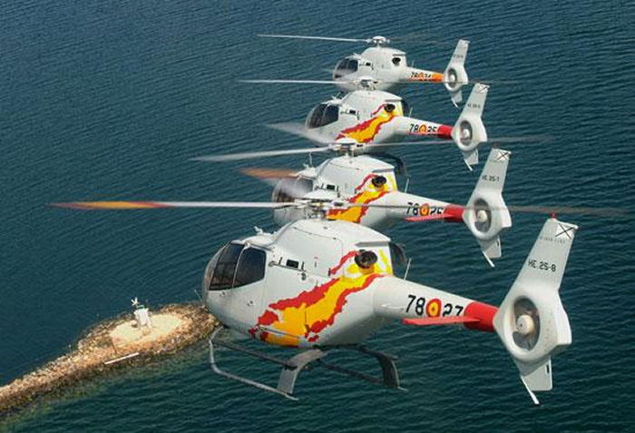 Spain ordered 15 Eurocopter EC120B Colibri trainer helicopters. To be delivered between July 2000 and and June 2001.
