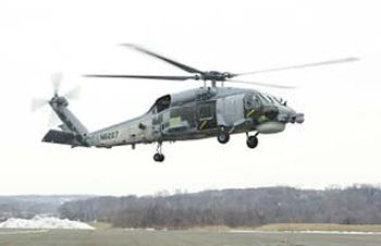 Turkish Navy's first, of eight, S-70B Seahawk helicopter completed its first flight January 18, 2001 at Sikorsky facility in Statford, Connecticut