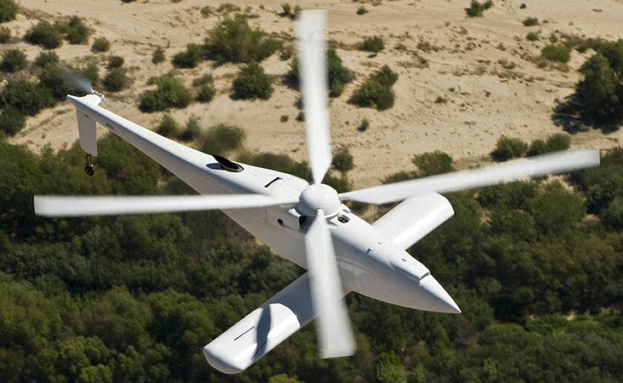 The Boeing A160 Hummingbird unmanned rotorcraft made its first test flight from an airfield near Victorville, CA