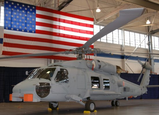 First new production MH-60R Seahawk delivered in a ceremony held at Sikorsky Stratford facility