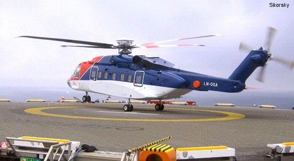 CHC Helikopter Service s first S-92 entered revenue service in the North Sea under contract with Norsk Hydro, one of Norway s major oil companies