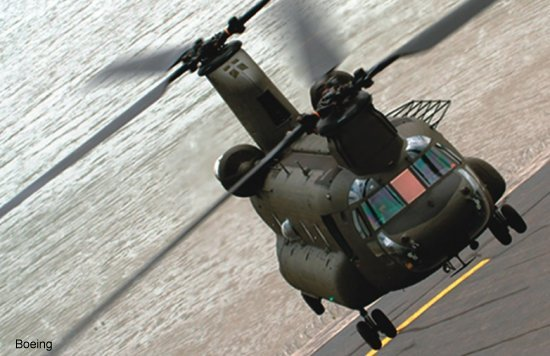 Boeing Unveils New CH-47F Chinook Helicopter to US Army
