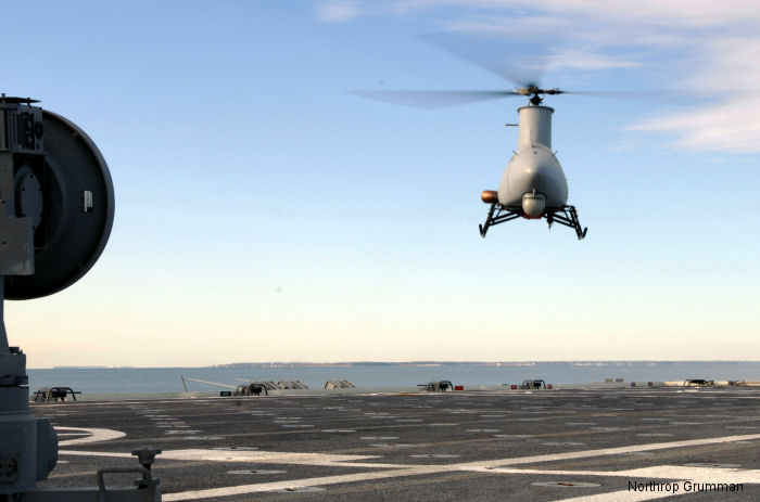 Northrop Grumman RQ-8A Fire Scout unmanned aerial vehicle (UAV) completed autonomous shipboard landings on board USS Nashville (LPD 13) off the coast of Naval Air Station Patuxent River