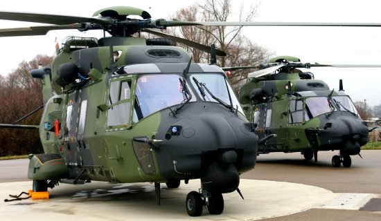 The first three NH90 TTH were handed over to the German Army at Eurocopter Donauworth facility on December 13th, 2006.