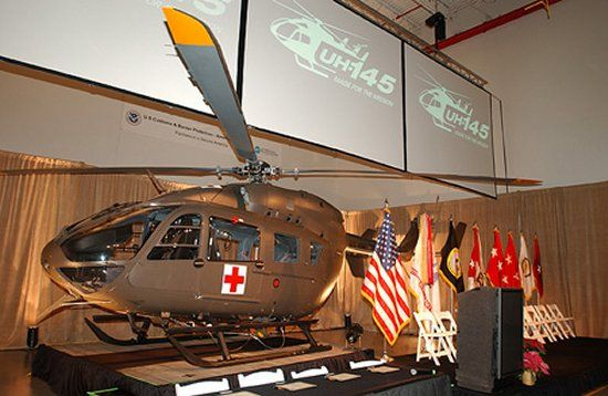 First UH-72A Light Utility Helicopter delivered to the US Army