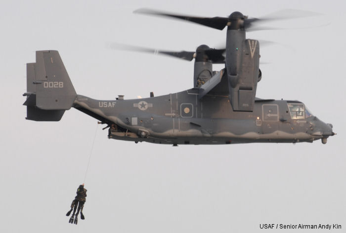 USAF 8th Special Operations Squadron CV-22 Osprey perform a water operations exercise with Navy SEALs at Lake Jackson in Florala, Alabama