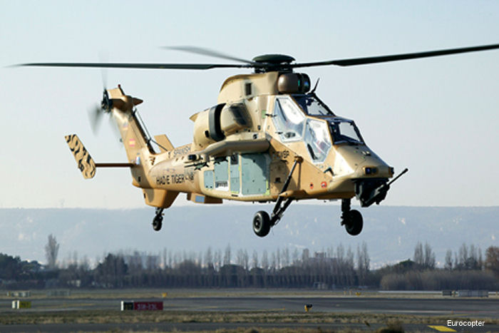 The first flight of the HAD-E version of the Tiger (c/n 5001 for Spain Army) has taken place in Marignane, France on December 14th, 2007
