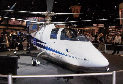 Sikorsky unveiled its X2 Technology Demonstrator at the George R Brown Convention Center at Heli-Expo 2008