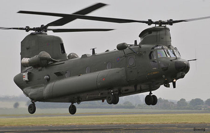 Boeing Defence UK delivers the first converted Chinook Mk3 helicopter to the Royal Air Force (RAF)