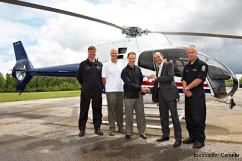 Edmonton Police Service (EPS) in Alberta took delivery of their second Eurocopter EC120B patrol helicopter