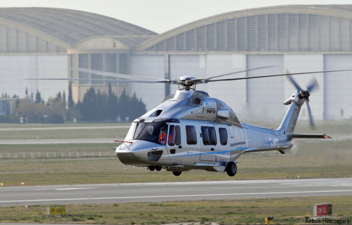 The Eurocopter EC175  performed its maiden flight at Marignane France on December 17, 2009