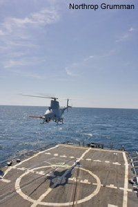 Northrop Grumman-developed U.S. Navy MQ-8B Fire Scout Completes Second Test Period Onboard USS McInerney (FFG-8)