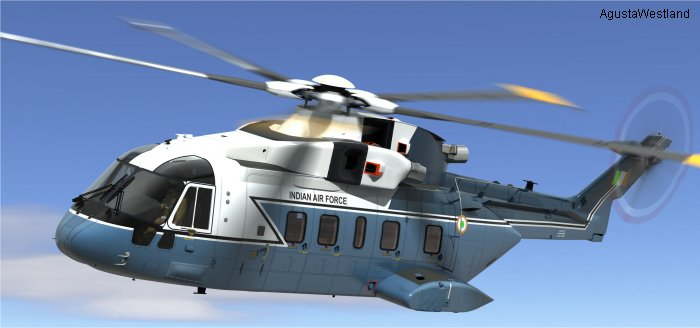 AgustaWestland and India signed contract for 12 VIP AW101 helicopters