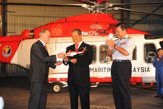 Handover of 3 AW139 helicopters to the Malaysian Maritime Enforcement Agency (MMEA)