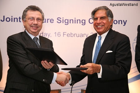 AgustaWestland and Tata Sons Establish a Joint Venture Company