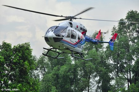 Eurocopter's first EC145 multi-role helicopter for Malaysia is delivered to Sabah Air Aviation for medical airlift duties