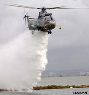 Eurocopter Presents New EC225 Fire-Fighting System