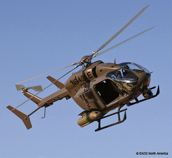 EADS North America readies its Armed Aerial Scout 72X helicopter for competitive fly off demonstration
