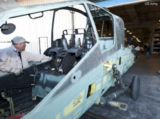 Construction on the first fuselage of the AH-64 Block III Apache helicopter begun.