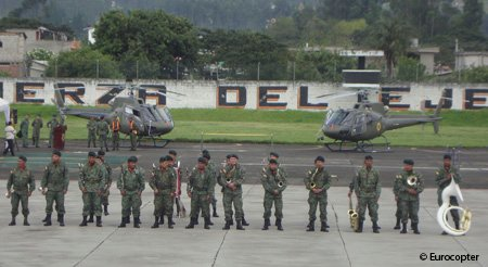 The Ecuadorian Army reaffirms its commitment to Eurocopter with the delivery of two new AS350 B2 helicopters
