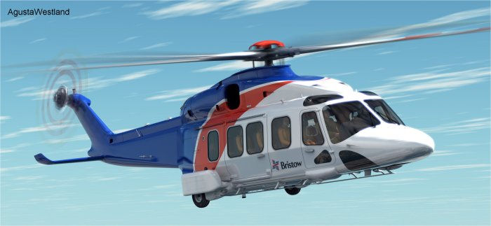 Bristow signed a contract for six AW189 helicopters (plus options) for offshore transport missions
