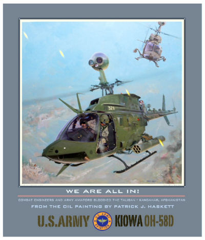 Bell Helicopter Honors OH-58 Kiowa Warriors in the first of the Heroes of Aviation Series paintings