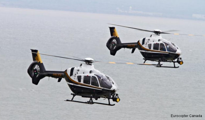 Eurocopter Canada transferred two new generation twin-engine EC135 helicopters to the Ontario Provincial Police in an official ceremony held at the OOP Headquarters