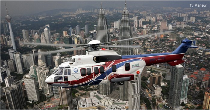Two new orders of Eurocopter EC225 confirmed at LIMA 2011, EC225 remains the preferred heavy helicopter for offshore operations in Malaysia