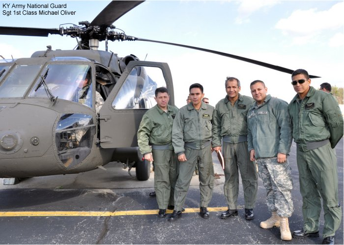Kentucky National Guard shows aviation facility, flight operations with Ecuadorian Army Air Group