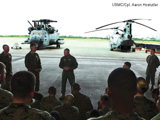 Marines of Marine Medium Helicopter Squadron 265 received the Marine Corps Achievement in Safety Award Nov. 16