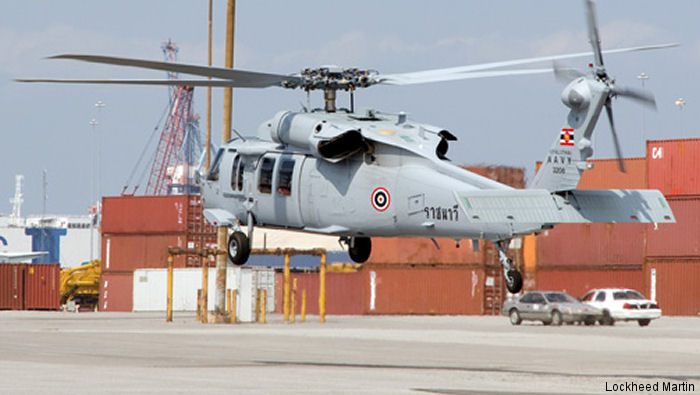 Royal Thai Navy became first international customer of the Sikorsky MH-60S Seahawk with the delivery of two helicopters.