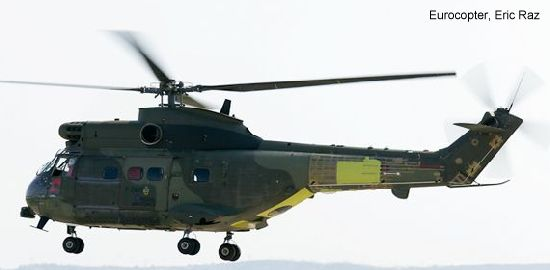 Eurocopter upgraded Puma Mk2 helicopter for the UK Royal Air Force makes its first flight