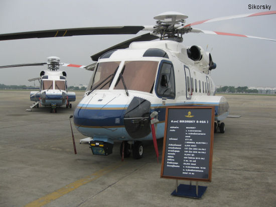 Sikorsky Aircraft Delivers Three VVIP S-92 Helicopters to Royal Thai Air Force. First to include LifePort high-end medical kit in a VIP S-92 aircraft
