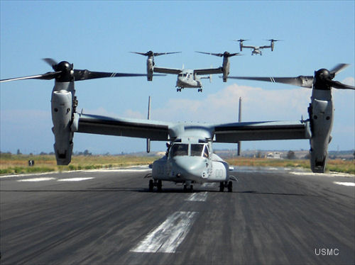 Bell Boeing-built V-22 Osprey Fleet Surpasses 100,000 Flight Hours