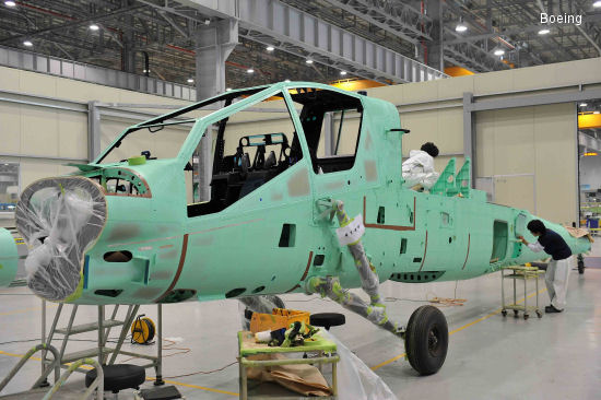 Boeing Receives 1st 10 New Fuselages Designed for AH-64D Apache Block III