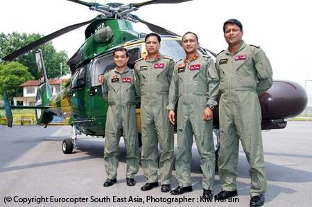Eurocopter AS365 N3+ Dauphin helicopters enter service with the Bangladesh Army for use in humanitarian missions and VIP airlift