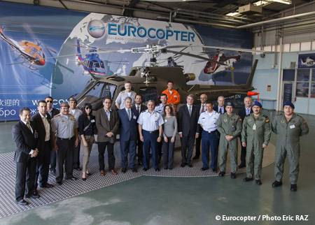 Ecuador Ministry of Defense Reaffirms its Commitment to Eurocopter with the Delivery of the First Two AS550 C3A Fennec Helicopters