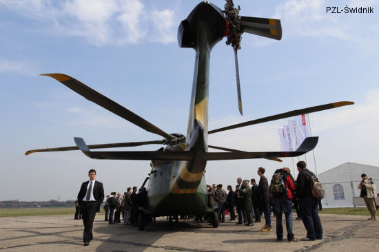 The AW149 Military Helicopter Exhibits at Polish Air Force Academy in Deblin