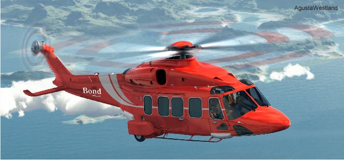 Bond Aviation Group have signed a Framework Agreement for 15 helicopters comprising ten firm orders and five options of AgustaWestland AW139, AW169 and AW189