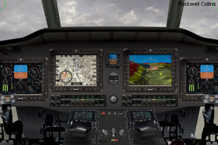 CAAS cockpit helps pilots navigate at low altitudes. Synthetic vision technology provides better situational awareness in degraded visibility conditions and over unfamiliar territory