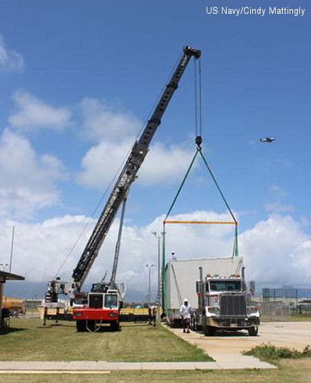 First CH-53E trainer arrives in Hawaii