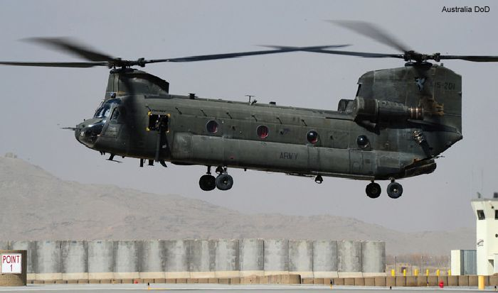 Army takes delivery of two Chinook helicopters